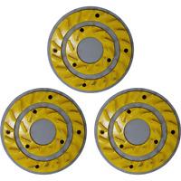 """CIMEX 19"""" Yellow Heavy Duty Smooth Grind Diamond Blades - Set of 3 - YEL20HD"""