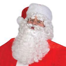 Père Noël Perruque Sourcils & Barbe Set Noël Grotte Déguisement Bn