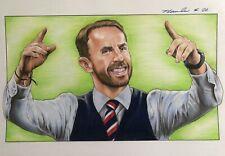 Gareth Southgate Original Pencil Drawing . Fan-ART A4 England Manager Football