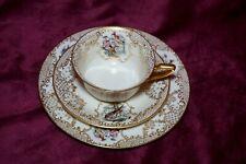Extremely Rare Antique ROSENTHAL IVORY BAVARIA Trio Cup Saucer Dessert 1900-1930