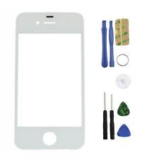 Für Apple iPhone 4 / 4S Displayglas Frontscheibe Frontglas Glas Weiß Toolset