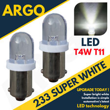 2X 233 BA9S T4W XENON LED WHITE NUMBER PLATE BULBS LAND ROVER RANGE ROVER