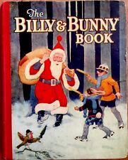 BILLY & BUNNY BOOK ~ Vintage 1930's children's Santa Cartoon Picture book
