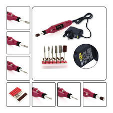 Pro Electric Nail Drill Power 6 bits Acrylic Gel Remover Manicure Tool UK PLUG