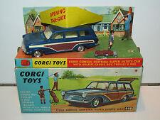 VINTAGE CORGI TOYS 440 FORD CONSUL CORTINA SUPER ESTATE & GOLFER MIB 1960s RARE