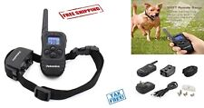Dog Shock Training Collar Waterproof Rechargeable Remote 330 Yard Electric LCD