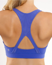 LULULEMON 50 Rep sports bra size 10 ROCKSTEADY BLUE RARE & DISCONTINUED