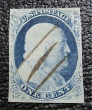 nystamps US Stamp # 9 Used $45 Pen Cancel