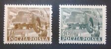 POLAND STAMPS 4Fi649-50 ScB99,563 Mi787-88 -Factory in Zeran, 1952, clean,Slania