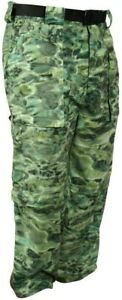 Aqua Design  Camo Convertible Fishing Pant UPF 50+ Protection Green Bayou XL