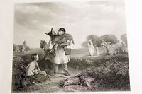 Classic Antique Engraving Print THE PET OF THE COMMON by John C Horsley c 1882