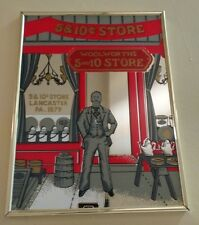 Vintage Marsel Mirror Framed Picture Woolworths Store from Lancaster P.A.