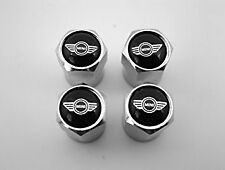 4 x Silver Chrome Tyre Valve Dust Caps (Fits Mini) Set of 4 M sport Cooper