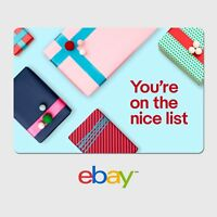 eBay Holiday Digital Gift Card - Nice - $25 to $200 - Email Delivery