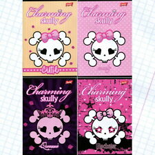 Charming Skully Handwriting Exercise Book 32 page checkered Zeszyt A5 kratka 32