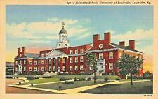 LOUISVILLE KENTUCKY~SPEED SCIENTIFIC & ENGINEERING SCHOOL~1940s POSTCARD
