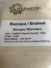 Brahmi - Bacopa - Organic Powder 100g - Memory , Anxiety , Adaptogenic