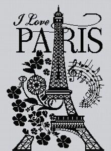 Blackwork Paris Cross Stitch Chart