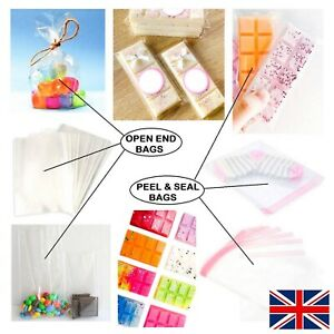 Small Clear Cellophane Sweet Gift Cello Bags for Wax Melts Card Food Wrap Party
