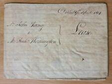 1814 Vellum Indenture Varney to Worthington House in Abchurch Lane, London