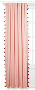 """Pillowfort Blackout Curtain """"Pink Tassel"""" 42"""" x 84"""" New in Package (1 Panel)"""