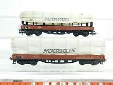 BJ332-0,5# 2x Märklin H0/AC 4517 Planewagen/Güterwagen 496 391 DB