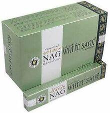 Incenso Vijayshree Golden Nag White Sage -- Box 12 confezioni da 15 g
