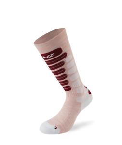 LENZ Skiing Kids 2.0 Pink White Red Socks Children's New Ski Socks j20