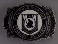 WOUNDED WARRIOR W*W FREEDOM ISN'T FREE Belt Buckle Made in USA!