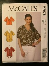 McCall's M7976 (Sizes: XS-M) EASY Misses' Tops **NEW**