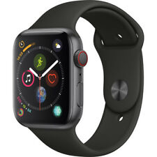 Apple Watch Series 4 44mm Space Gray Aluminum Case Black Sport Band (Cellular)