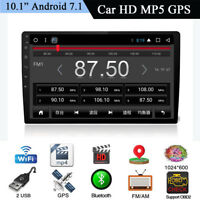 """10,1 """"1Din Auto MP5 Spieler GPS Android 7.1 Spiegel Link Bluetooth TPMS 4G WIFI"""
