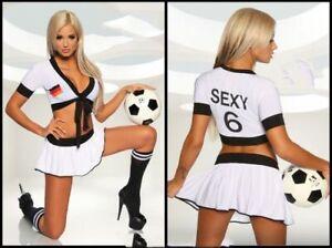 Sexy Fußball Kostüm im Cheerleader Stil