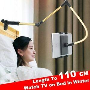 Folding Long Arm Bed Sofa mobile Phone Holder Stand Bracket For iPad iPhone UK