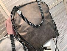 LAST ONE! Dark Grey Stella McCartney Style Chain  Large Tote Shoulder Bag - BNWT