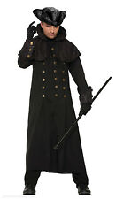 MENS LONG BLACK COAT VAMPIRE SLAYER COSTUME HIGHWAYMAN POLDARK HALLOWEEN OUTFIT