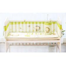 4 Sides Cot Bed Bumper Breathable Air Mesh Crib Liner Wrap Nursery Set