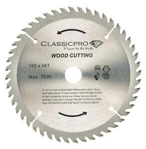 Classicpro TCT 165mm x 20mm/16mm Bore 48T Cordless Circular Saw Blade UK