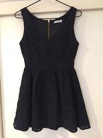 Don't Ask Amanda Ladies Black Floral Dress Size XS Good Condition