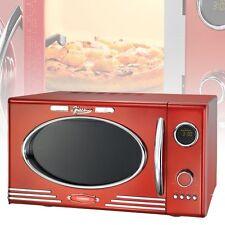 Cuisine unité de Design Rétro Micro-ondes rouge Barbecue Minuteur écran LED 27cm