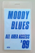 1989 Moody Blues Blue All Area Access Backstage Pass
