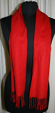 Scarf V Fraas Acrylic SUPER SOFT 59x11 Wrap Germany Red Long Womens