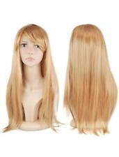 Golden Blonde Hair Wig  Long Straight Artificial Costume Womans Fancy Dress