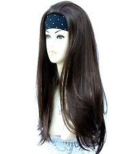 Medium Brown 3/4 Wig Half Wig Clip In Hair Piece. Premium Vogue Wigs UK