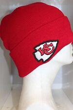 NFL Kansas City Chiefs CUFFED BASIC KNIT Cap CHIEFS Red BEANIE - OSFM