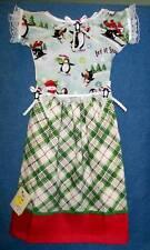 **NEW** Winter Penguins & Plaid Holiday Oven Door Dress Kitchen Hand Towel #139