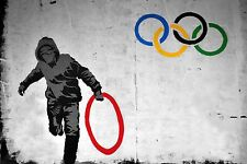 QUALITY BANKSY ART PHOTO PRINT (OLYMPIC RINK THEFT)