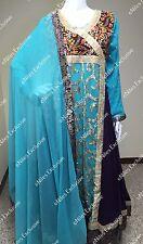 Pakistani Designer Party Wear Gown Embroidery Maxi Salwar Kameez M