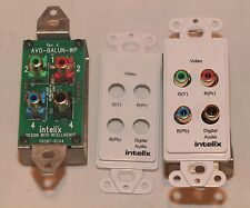 INTELLIX AVD-V3AD-WP COMPONENT VIDEO DIGITAL AUDIO CAT5 BALUN PAIR WALLPLATE