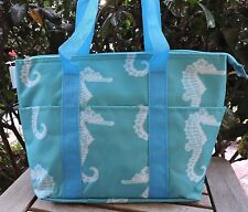 Blue Seahorse Insulated Tote Bag Travel Beach Shopping Gym Thermal Snack NEW